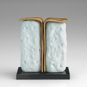 <I>The Tempramentalist </i> 2015 Ceramic, glaze, catalyzed polyurethane, epoxy resin 4 3/8 x 4 x 2 1/4 inches; 11 x 10 x 6 cm