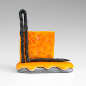 <I>Urinetrouble</i> 2015 Ceramic, glaze, catalyzed polyurethane, epoxy resin 5 7/8 x 5 x 2 1/4 inches; 15 x 13 x 6 cm