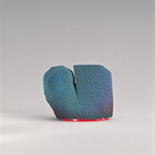 <I>Dick Tracy</i> 1985 Ceramic, glaze, china paint, and epoxy resin 2 1/4 x 3 1/4 x 1 1/4 inches; 6 x 8 x 3 cm