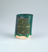 <I>Untitled (dark green archimectric)</i> 1981 Earthenware, glaze, and paint 5 x 4 x 4 1/2 inches; 13 x 10 x 11 cm