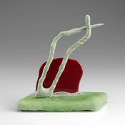 <i>Kingsford Special</i> 2013 Ceramic, glaze, polyeseter resin, catalyzed polyurethane, epoxy resin 7 x 6 x 3 1/2 inches; 18 x 15 x 9 cm