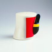 <I>Mostly White</i> 2002 Earthenware, overglaze 4 3/4 x 5 1/2 x 4 1/4 inches; 12 x 14 x 11 cm
