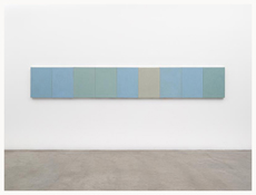 <i>Ru Ware Project</i> 2007-2012  Oil on linen  Nine canvases, each: 24 x 18 inches; 61 x 46 cm Overall: 24 x 162 inches; 61 x 411 cm