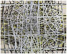 <i>Parallel Rendering 2</i> 1996 Oil, alkyd resin on linen 96 x 120 inches; 244 x 305 cm