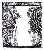 <i>Untitled</i>, 2010, Ink on plastic, 4 x 3 7/16 inches; 10 x 9 cm