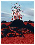 <i>Red Heat</i> 2004 Acrylic and ink on paper 11 x 8 1/2 inches; 28 x 22 cm