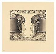 <i>Valentine</i>, 2010, Intaglio on Shikoku Surface Gampi, 13 1/2 x 14 inches; 34 x 36 cm