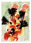 <i>Untitled 23.I.91</i> 1991 Gouache, pastel and ink on paper 39 1/4 x 27 3/4 inches