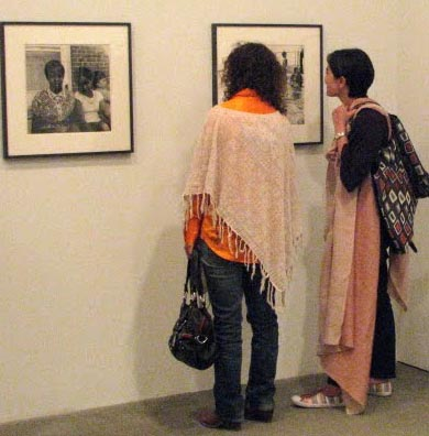 Visitors at <i>Peter Hujar Photographs 1956-1958</i> at Matthew Marks Gallery 526 W 22 Street