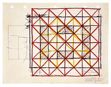 <i>Maze</i> 1967 Ink and graphite on paper 8 x 10 1/2 inches; 21 x 27 cm