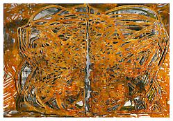 <i>Graphic Primitives, 6</i> 1998 Oil and alkyd resin on linen 75 x 108 inches; 191 x 274 cm