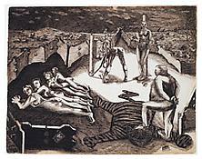 <i>Aryan Fold Type I</i> 1942 Ink on paper 19 1/4 x 25 1/4 inches