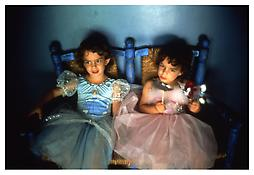 <i>Lily and Isabel on chairs, East Hampton</i> 1996 Cibachrome 20 x 24 inches; 51 x 61 cm