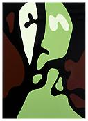 <i>Standing Head</i> 2000 Enamel on aluminum 54 x 39 inches; 137 x 99 cm