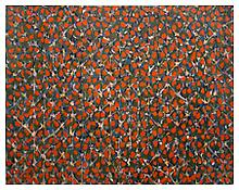 <i>Of His Bones are Coral Made</i> 1993 Oil on linen 78 x 99 inches