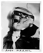 <i>Andy Warhol</i> c. 1965 Vintage gelatin silver print 14 x 11 inches; 36 x 28 cm