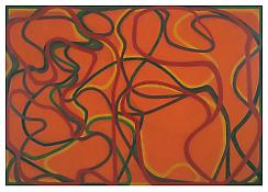 <i>Round Rock, Tight Rock (4)</i> 2000-2002 Oil on linen 75 x 107 inches; 190.5 x 272 cm
