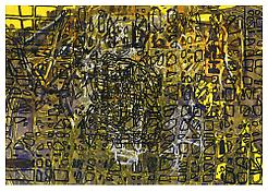 <i>Graphic Primitives, 2</i> 1998 Oil and alkyd resin on linen 75 x 108 inches; 191 x 274 cm