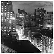 <i>Night, Downtown</i> 1976 Gelatin-silver print 14 3/4 x 14 3/4 inches; 37.5 x 37.5 cm