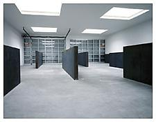 <i>To Whom it May Concern</i> 1995 9 Cor-Ten steel plates 3 plates: 60 x 264 x 8 inches 3 plates: 65 x 264 x 8 inches 3 plates: 70 x 264 x 8 inches