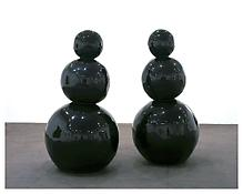 <i>The End of Fun</i> 2004 Enamel on bronze 2 sculptures:  72 x 35 x 35 inches each; 183 x 91 x 91 cm each