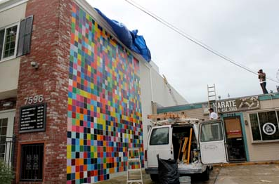 Roy McMakin creates a colorful mural for the community of La Jolla in San Diego, California. More information on the work can be found &lt;a href=&quot;http://lajollalight.com/2010/12/23/mcmakins-colorful-mural-unveiled-in-la-jolla/&quot;&gt;here.&lt;http://lajollalight.com/2010/12/23/mcmakins-colorful-mural-unveiled-in-la-jolla/&gt; &lt;/a&gt;