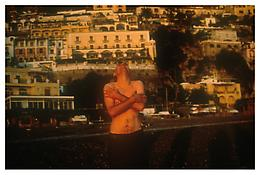 <i>Pawel on the beach laughing, Positano</i> 1996 Cibachrome 30 x 40 inches; 76 x 102 cm