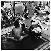 <i>Children Playing by a Pool, Southbury</i> 1957 Gelatin-silver print Image: 13 1/4 x 13 1/4 inches; 34 x 34 cm Sheet: 16 7/8 x 14 inches; 43 x 36 cm