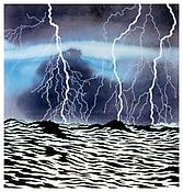 <i>Storm Light</i> 2004 Acrylic and ink on paper 8 1/4 x 7 3/4 inches; 21 x 20 cm