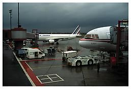 <i>Airport [Berlin - Tegel]</i> 1991 C-print 48 7/8 x 73 inches; 124 x 185 cm