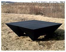 <i>For P.N. </i> 1969 Welded bronze, black patina 28 x 80 x 80 inches; 71 x 203 x 203