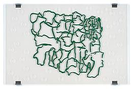 <i>Panorama (Surroundings)</i> 1999 Silkscreen on plexiglas with four metal brackets 62 1/8  x 94 3/4 inches 158 x 241 cm
