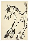 <i>Horse Smiling</i> 1940 Ink on paper 8 1/2 x 5 3/4 inches 22 x 15 cm
