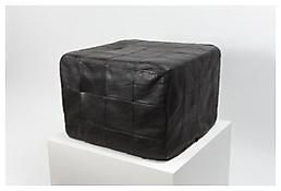 <i>Square Stool</i> 1987 Black rubber 22 7/8 x 12 5/8 x 22 7/8 inches; 58 x 32 x 58 cm