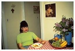 Nan Goldin <i>Gina at Bruce's dinner party, NYC</i> 1991 Cibachrome 30 x 40 inches; 76 x 102 cm