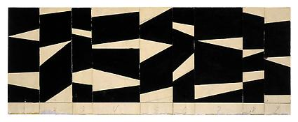 <i>Project for a Sculpture</i> 1956 Collage and ink 4 1/2 x 12 inches; 11.5 x 30.5 cm