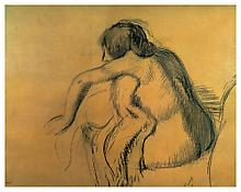 Edgar Degas <i>Après le Bain</i> c. 1890-95 Charcoal on paper 26 x 33 7/8 inches; 66 x 86 cm