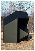 <i>For J.C.</i> 1969 Welded bronze, black patina 80 x 80 x 57 inches; 203 x 203 x 145 cm