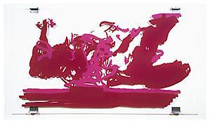 <i>Gust</i> 2000 Silkscreen on plexiglass  57 x 105 1/8 x 2 3/8 inches 145 x 267 x 6 cm