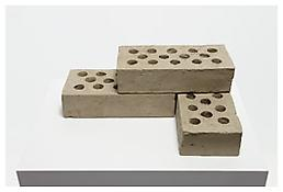 <i>Three Bricks</i> 2009 Reinforced clay 4 3/4 x 14 x 9 1/4 inches; 12 x 36 x 24 cm