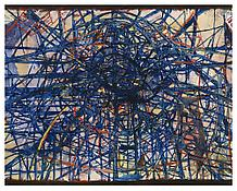 <i>Velocity and Amplitude</i> 1996 Oil, alkyd resin on linen 93 x 118 inches; 236 x 300 cm