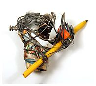 <i>Untitled (#340)</i> c. 1970 Wire collage and found objects 5 1/2 x 4 1/2 x 2 1/4 inche 14 x 11 x 6 cm