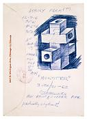 <i>Monster</i>  1962 Ink on envelope 7 7/8 x 5 1/2 inches; 20 x 14 cm