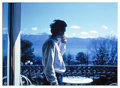 <i>David H. on the terrace, Hotel Beau Rivage Palace, Lausanne</i> 1998 Cibachrome 30 x 40 inches; 76 x 102 cm