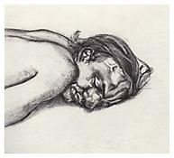 <i>Man Resting</i> 1988 Etching on Somerset Satin White paper Plate: 14 1/2 x 15 7/8 inches; 37 x 40 cm Sheet: 26 x 20 inches; 66 x 51 cm