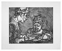 <i>After Chardin</i> 2000 Etching on White Somerset Textured Paper Plate: 23 1/2 x 28 3/4 inches; 60 x 73 cm Sheet: 30 3/4 x 37 3/4 inches; 78 x 96 cm