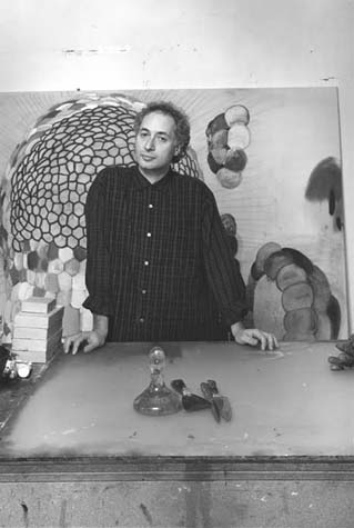 Terry Winters in his studio, 1986. Photo by Peter Bellamy.