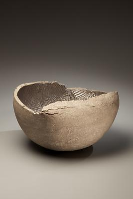 Ogawa Machiko (b. 1946) Vessel with metallic glaze, 2008 Stoneware with silver glazes 8 5/8 x 14 1/2 x 16 1/2 inches Inv# 6181