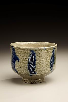 Hamada Shoji (1894-1978) Salt glazed tea bowl with combed design, ca. 1960 Stoneware 3 1/2 x 4 7/16 inches Inv# 6092