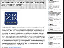 Extraordinary Asian Art Exhibitions Celebrating Asia Week New York 2011